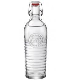 Botella agua cristal cierre hermético