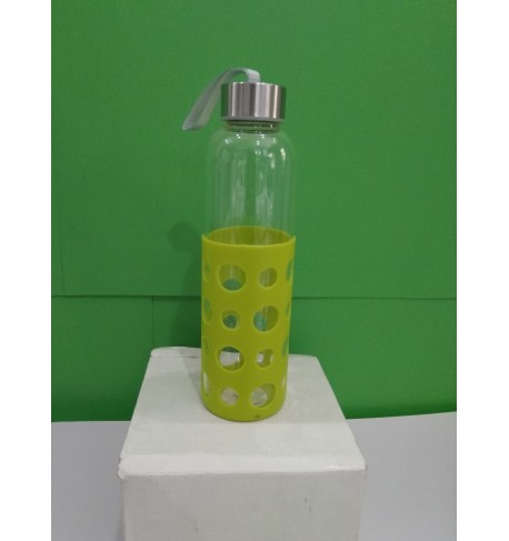 BOTELLA CRISTAL CON FUNDA GOMA, 500ML