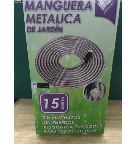 MANGUERA METÁLICA DE JARDÍN 15 M